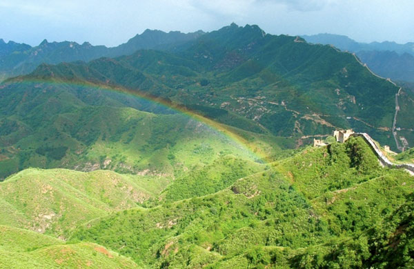 Rainbow over the Great Wall