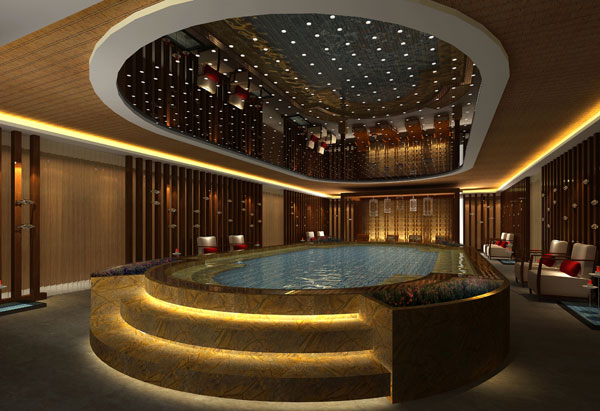 Swimming Pool on the Newest Yangtze President Cruises