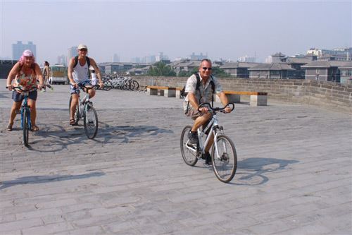 Biking atop the Ancient City Wall