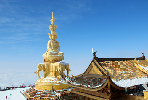 Mount Emei,a famous UNESCO Natural and Cultural Heritage Site near Chengdu