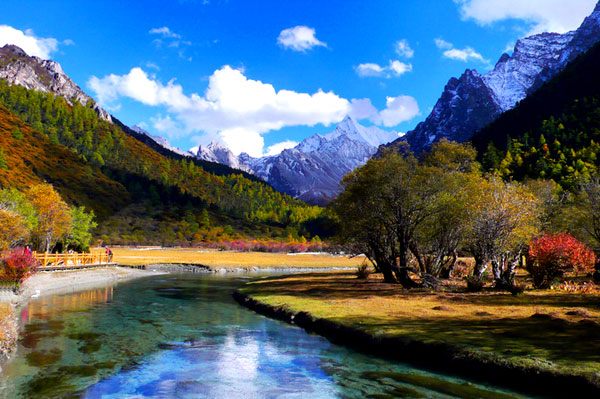 Three Holy Mountain in Daocheng