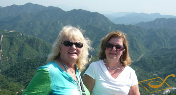Gina and Her Friend on Great Wall