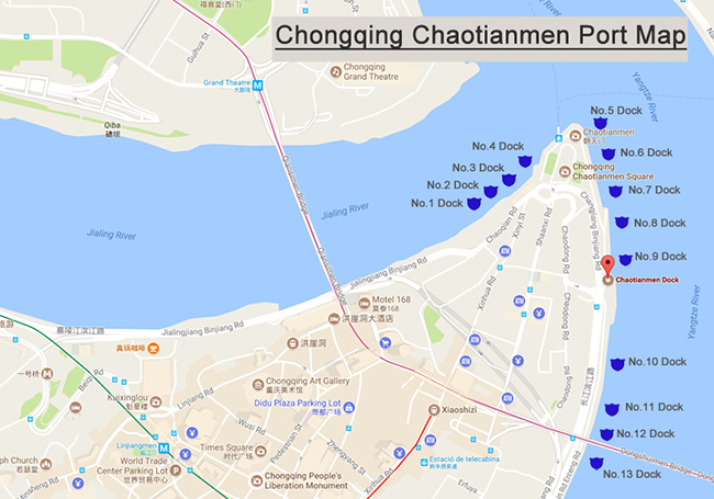 Chongqing Chaotianmen Port Map