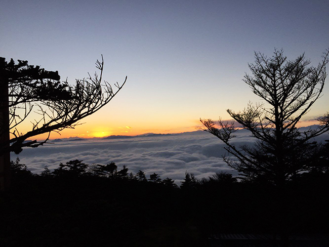 Sunset from Mount Emei