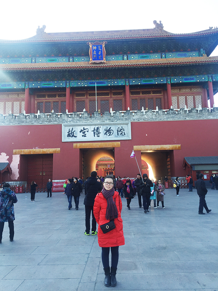 Vivien at Forbidden City