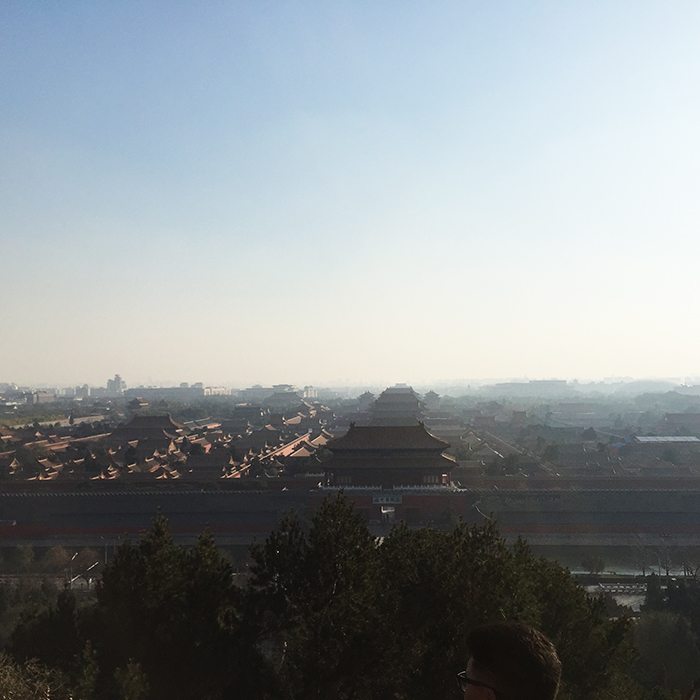 Great view of Forbidden City from peak of Jinshan Park
