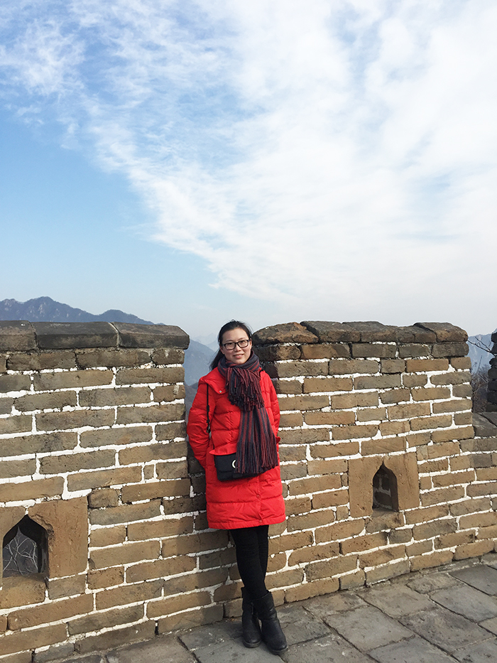 Vivien at Great Wall Mutianyu