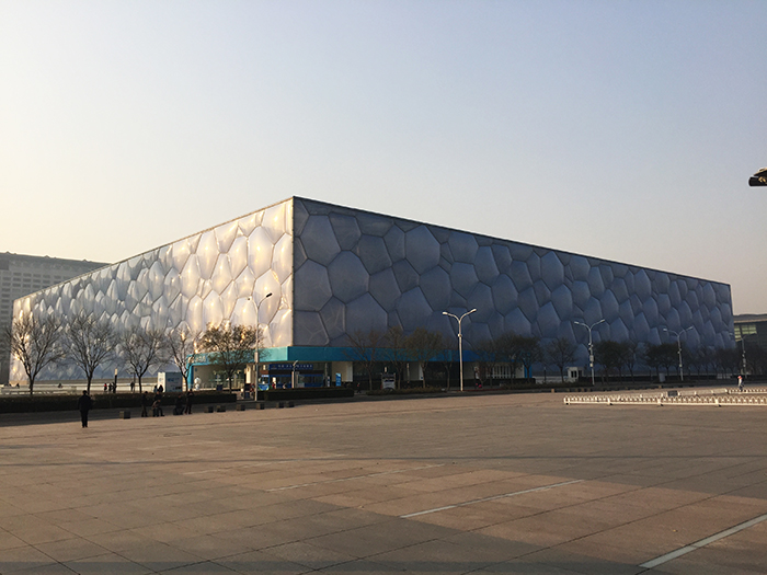 Water Cube Outside View
