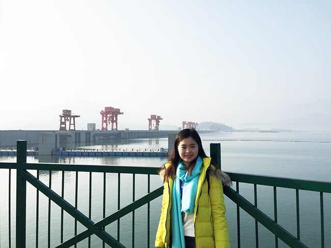 Rita visited Three Gorges Dam Site