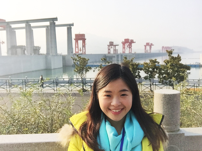 Rita visited Three Gorges Dam in Yichang