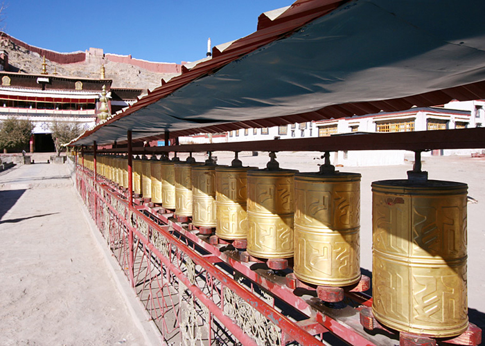 Prayer Wheels at Palcho Monastery