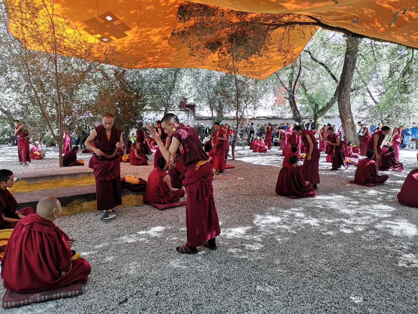 """Buddhism Debating"" in Sera Monastery."