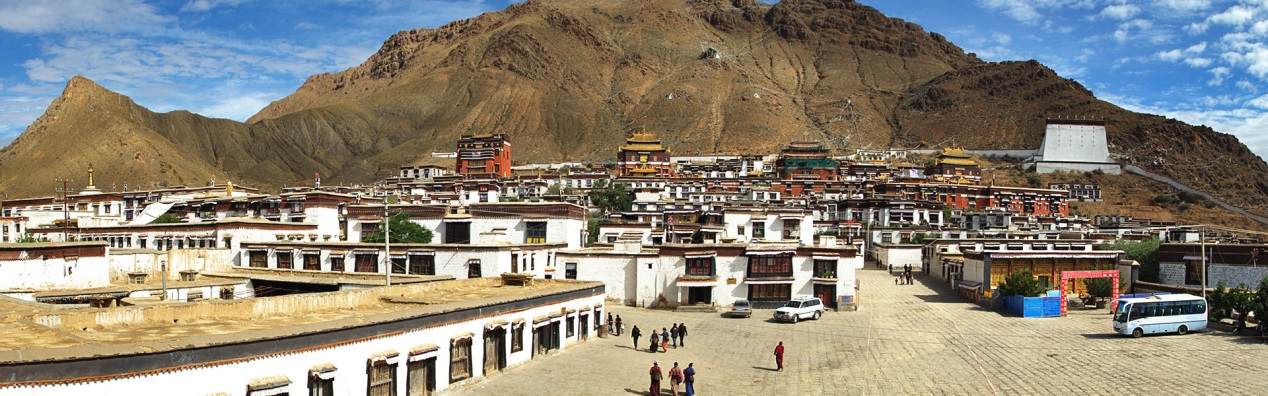 View of Tashilhunpo Monastery from distance